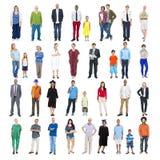 小组不同种族的混杂的职业人民 免版税图库摄影