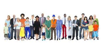 小组不同种族的混杂的职业人民 免版税库存图片