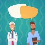 小组中间Chat Bubble Social Network医生通信队诊所医院 向量例证