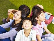 小组亚裔基本的学童 库存照片