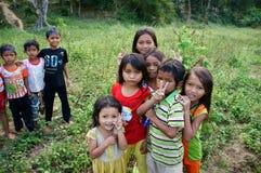 小组亚洲孩子 库存图片