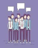 小组人企业和企业配合概念 库存例证