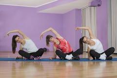 小组健身体育 免版税图库摄影