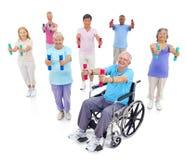 小组健身的健康人 库存图片