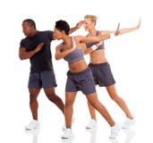 小组健身舞蹈 免版税库存图片