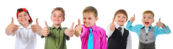 小组儿童摆在 库存照片