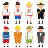 小组全国服装的孩子 库存照片