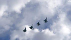 小组军用飞机 库存照片