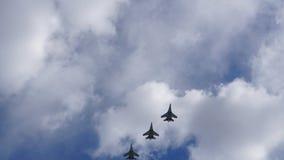 小组军用飞机 免版税图库摄影