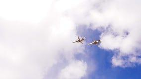 小组军用飞机 免版税库存图片