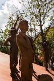 小组古铜色雕象:赤裸人体 库存照片