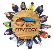 小组商人计划的战略 库存图片