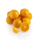 与切片和楔子的橙色小组 库存照片