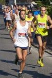 小组在路的赛跑者(饥饿跑2014年, FAO/WFP) 库存图片