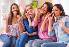 小组女孩 免版税库存照片