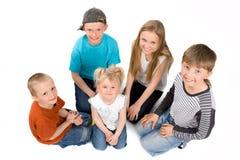 小组孩子 图库摄影