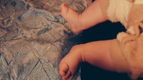 小婴孩的脚 股票录像