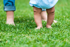 小婴孩的英尺 免版税库存照片