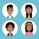 小组家庭美国黑人 图库摄影