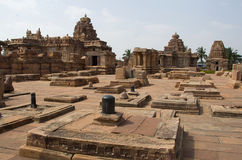 小组寺庙, Pattadakal 免版税图库摄影