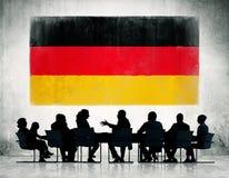 小组开的商人会议 免版税库存图片