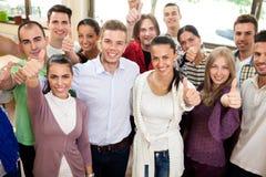 小组微笑的学生 免版税图库摄影