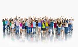 小组愉快的学生队统一性概念 免版税库存照片