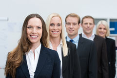 小组成功的年轻商人 免版税图库摄影