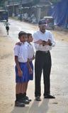 小组斯里兰卡的学校学生 库存图片