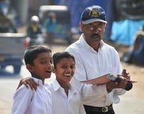 小组斯里兰卡的学校学生 免版税库存照片