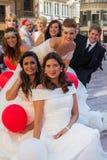 小组新娘和新郎 免版税库存照片
