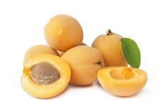 小组新鲜的成熟杏子 库存图片