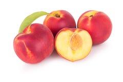 小组新鲜的桃子 免版税库存照片
