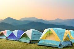 小组旅游帐篷 免版税库存照片