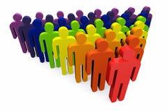 小组有团队负责人的企业工作者 免版税库存图片
