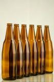 小组棕色瓶 库存图片