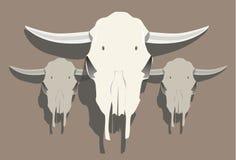 小组母牛头骨例证1 库存例证