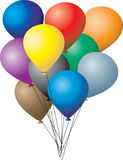 小组气球 库存图片
