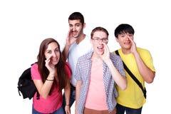 小组激动的学生 图库摄影