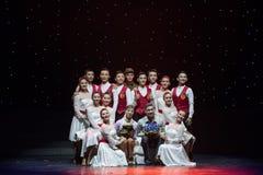 小组照片愉快的清洁队现代舞蹈 库存照片
