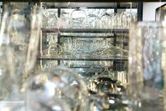 小组玻璃器皿 免版税库存图片