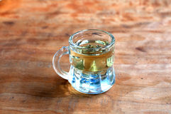 小玻璃用白兰地酒 免版税图库摄影