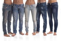 小组男人和妇女牛仔裤的 免版税库存照片