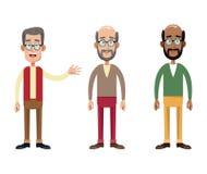 小组男性祖父图象 向量例证