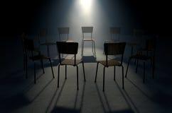 小组疗法椅子 库存图片