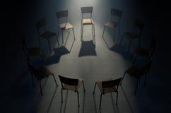 小组疗法椅子 免版税库存图片