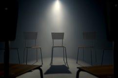 小组疗法椅子 免版税库存照片
