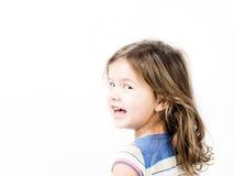 小质朴的孩子画象  免版税库存图片