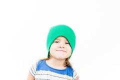 小质朴的孩子画象  免版税库存照片