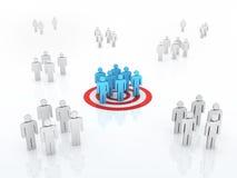 小组目标市场概念 免版税图库摄影